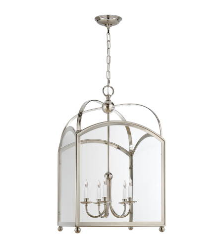 Visual Comfort CHC 3425PN E. F. Chapman Traditional Arch Top Large Lantern in Polished Nickel