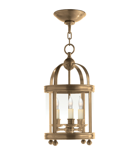 Visual Comfort CHC 3426AB E. F. Chapman Traditional Edwardian Arch Top Mini Lantern in Antique-Burnished Brass