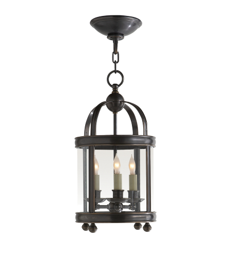 Visual Comfort CHC 3426BZ E. F. Chapman Traditional Edwardian Arch Top Mini Lantern in Bronze