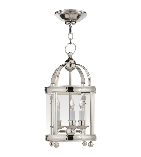 Visual Comfort CHC 3426PN E. F. Chapman Traditional Edwardian Arch Top Mini Lantern in Polished Nickel