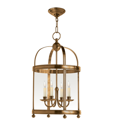 Visual Comfort CHC 3427AB E. F. Chapman Traditional Edwardian Arch Top Small Lantern in Antique-Burnished Brass