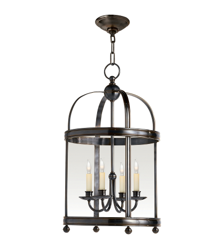 Visual Comfort CHC 3427BZ E. F. Chapman Traditional Edwardian Arch Top Small Lantern in Bronze