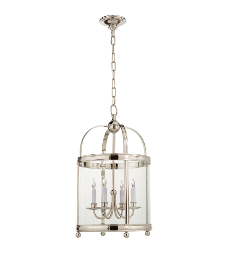 Visual Comfort CHC 3427PN E. F. Chapman Traditional Edwardian Arch Top Small Lantern in Polished Nickel