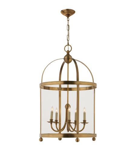 Visual Comfort CHC 3428AB E. F. Chapman Traditional Edwardian Arch Top Large Lantern in Antique-Burnished Brass