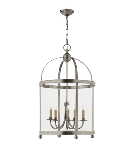 Visual Comfort CHC 3428AN E. F. Chapman Traditional Edwardian Arch Top Large Lantern in Antique Nickel