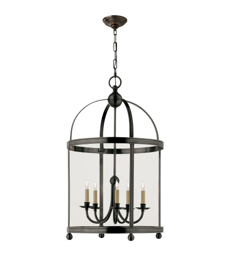 Visual Comfort CHC 3428BZ Chapman & Myers Traditional Edwardian Arch Top Large Lantern in Bronze
