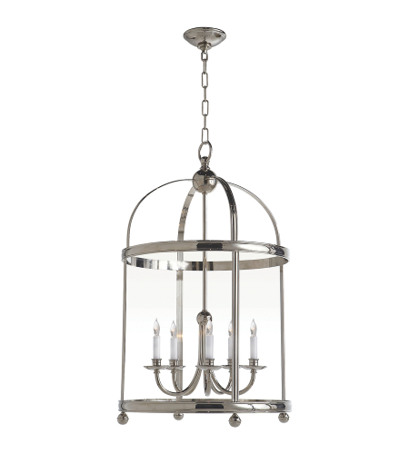 Visual Comfort CHC 3428PN E. F. Chapman Traditional Edwardian Arch Top Large Lantern in Polished Nickel