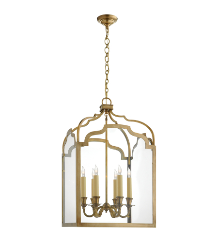 Visual Comfort CHC 3436AB E. F. Chapman Traditional Westminster Medium Lantern in Antique-Burnished Brass