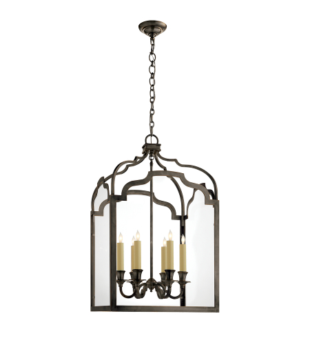 Visual Comfort CHC 3436BZ E. F. Chapman Traditional Westminster Medium Lantern in Bronze