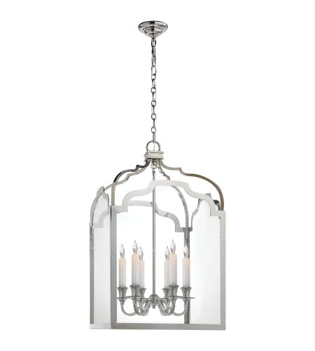 Visual Comfort CHC 3436PN E. F. Chapman Traditional Westminster Medium Lantern in Polished Nickel