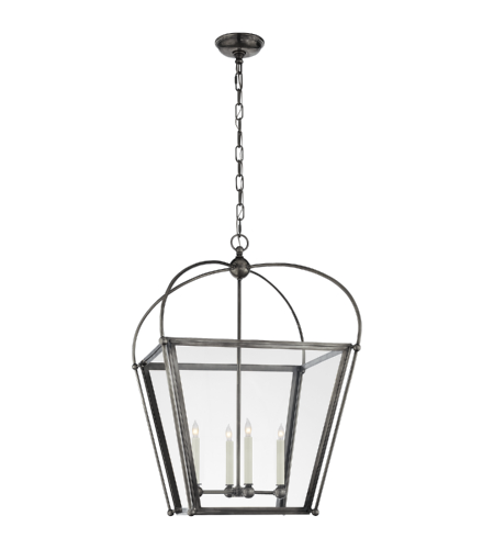 Visual Comfort CHC 3439BZ-CG E. F. Chapman Traditional Plantation Medium Lantern in Bronze with Clear Glass
