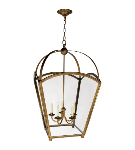 Visual Comfort CHC 3441AB E. F. Chapman Traditional Arch Top Large Tapered Lantern in Antique-Burnished Brass