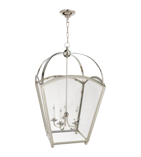 Visual Comfort CHC 3441PN Chapman & Myers Traditional Arch Top Large Tapered Lantern in Polished Nickel