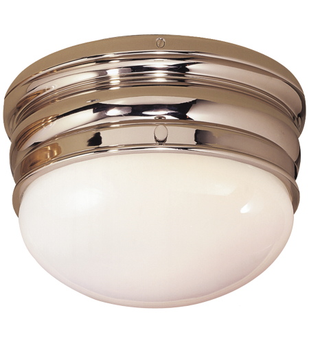 Visual Comfort CHC 4201PN E. F. Chapman Traditional Crown Small Flush Mount in Polished Nickel
