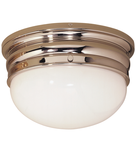 Visual Comfort CHC 4202PN E. F. Chapman Traditional Crown Medium Flush Mount in Polished Nickel