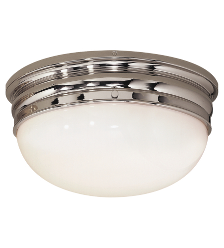 Visual Comfort CHC 4203PN E. F. Chapman Traditional Crown Large Flush Mount in Polished Nickel