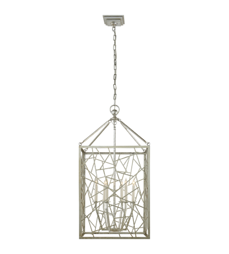 visual comfort chc 5006bsl e f chapman modern modern iceray lantern in burnished silver leaf