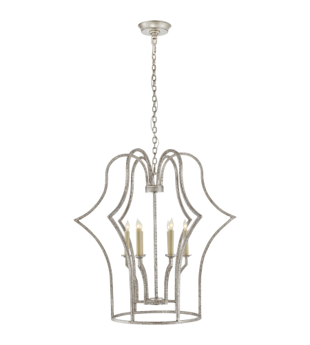 Visual Comfort CHC 5175BSL E. F. Chapman Casual Hollywood Regency Medium Lantern in Burnished Silver Leaf