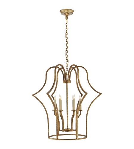 Visual Comfort CHC 5175GI E. F. Chapman Casual Hollywood Regency Medium Lantern in Gilded Iron