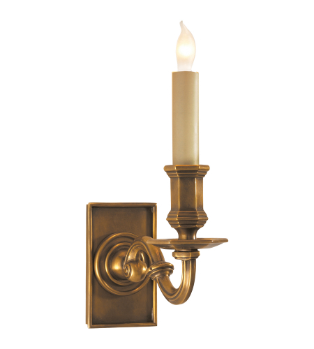 Visual Comfort CHD 1175AB E. F. Chapman Traditional EFC Library Wall Sconce in Antique-Burnished Brass  sc 1 st  Foundry Lighting : library sconce - www.canuckmediamonitor.org