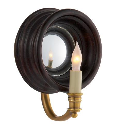 Visual Comfort CHD 1185TB E. F. Chapman Casual Chelsea Small Reflection Sconce in Tudor Brown