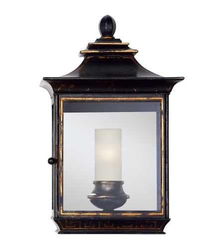 Visual Comfort CHD 2031OBT E. F. Chapman Traditional Regency Small Wall Lantern in Old Black Tole