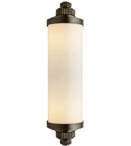 Visual Comfort CHD 2359BZ-WG E. F. Chapman Modern Ruhlmann Linear Bath Sconce in Bronze with White Glass