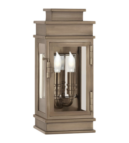 Visual Comfort CHD 2907AN-CG E. F. Chapman Casual Linear Mini Wall Lantern in Antique Nickel with Clear Glass