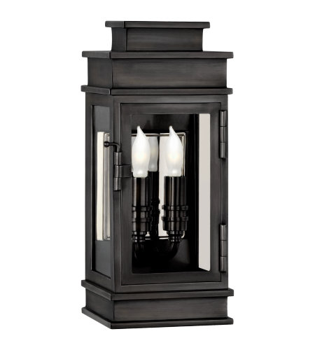 Visual Comfort CHD 2907BZ-CG E. F. Chapman Casual Linear Mini Wall Lantern in Bronze with Clear Glass