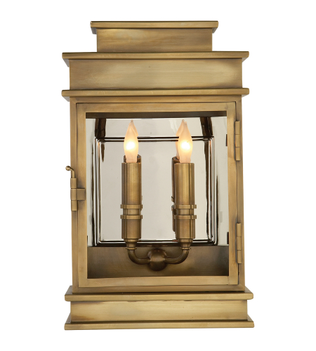 Visual Comfort CHD 2908AB E. F. Chapman Casual Linear Lantern Short in Antique-Burnished Brass