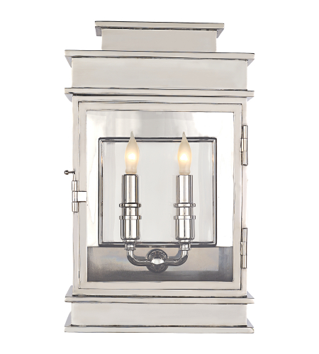 Visual Comfort CHD 2908PN E. F. Chapman Casual Linear Lantern Short in Polished Nickel