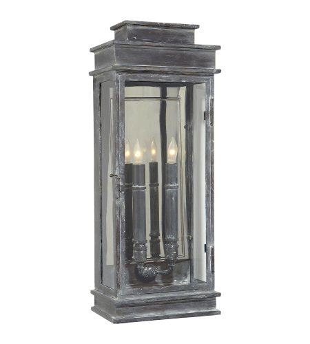 Visual Comfort CHD 2910WZ E. F. Chapman Casual Linear Lantern Tall in Weathered Zinc