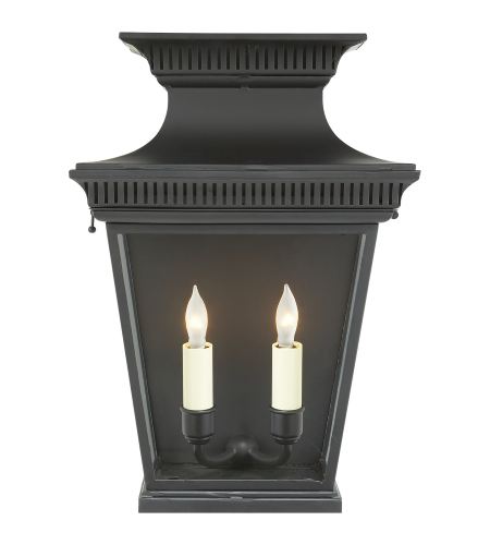 Visual Comfort CHD 2950BLK E. F. Chapman Traditional Elsinore 3/4 Wall Lantern in Black
