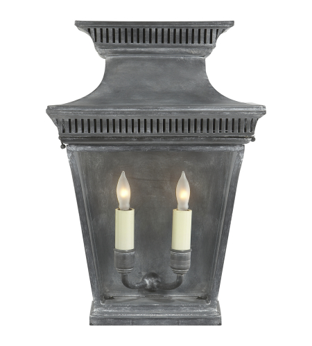 Visual Comfort CHD 2950WZ E. F. Chapman Traditional Elsinore 3/4 Wall Lantern in Weathered Zinc