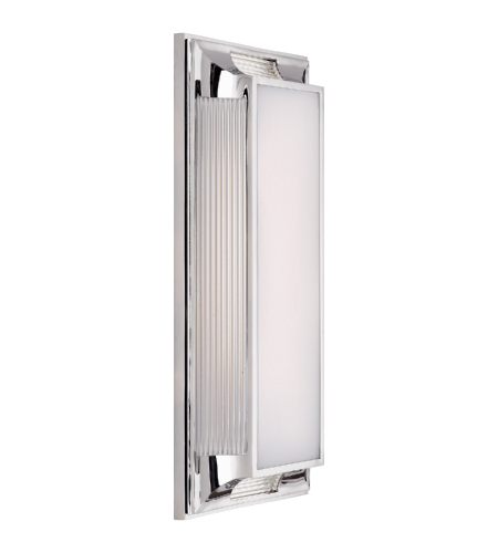 Visual Comfort CHD 4212PN-WG E. F. Chapman Modern Hector Large Art Deco Bath Light in Polished Nickel and Glass Rods with White Glass