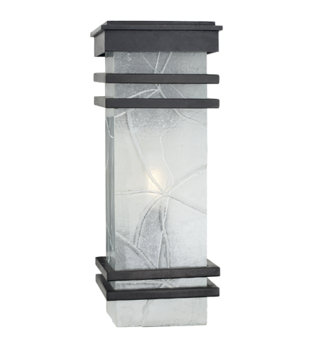 Visual Comfort CHO 2013AI-TG E. F. Chapman Modern Mission Banded Lantern in Aged Iron with Clear Textured Glass