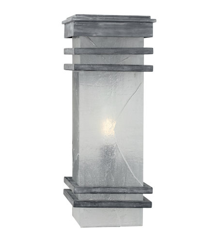 Visual Comfort CHO 2013WZ-TG E. F. Chapman Modern Mission Banded Lantern in Weathered Zinc with Clear Textured Glass