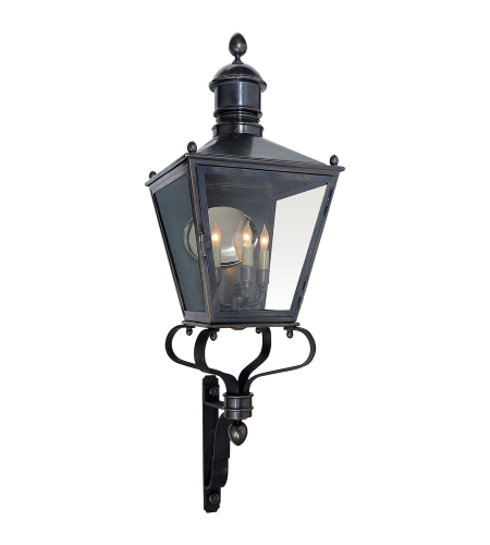 Bedfords Medium Pedestal Lantern In Black: Shop For Outdoor Lantern At Foundry Lighting