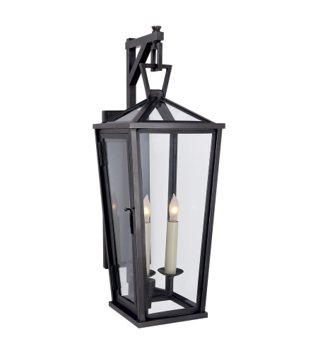 Visual Comfort CHO 2086BZ E. F. Chapman Casual Darlana Tall Bracketed Wall Lantern in Bronze