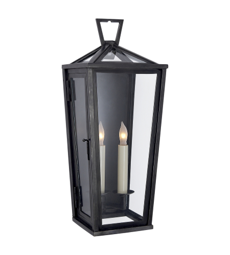 Visual Comfort CHO 2087BZ E. F. Chapman Casual Darlana Tall 3/4 Wall Lantern in Bronze