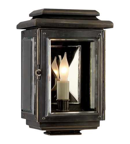 Visual Comfort CHO 2800BZ E. F. Chapman Casual Kensington Mini Wall Lantern in Bronze