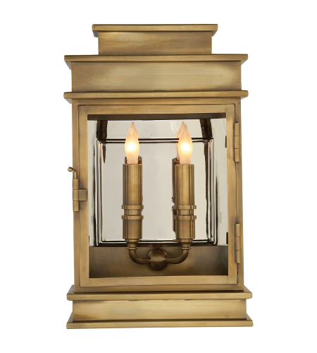 Visual Comfort CHO 2908AB E. F. Chapman Casual Linear Lantern Short in Antique-Burnished Brass