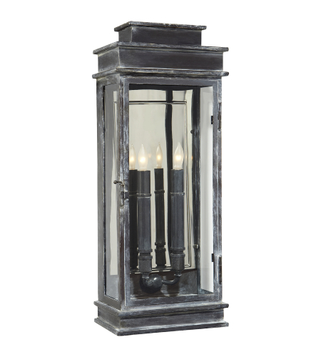 Visual Comfort CHO 2910WZ E. F. Chapman Casual Linear Lantern Tall in Weathered Zinc