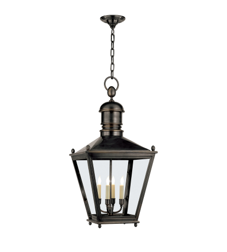 Visual Comfort CHO 5033BZ E. F. Chapman Traditional Sussex Large Hanging Lantern in Bronze
