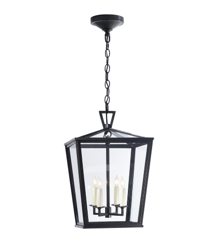 Visual Comfort CHO 5084BZ E. F. Chapman Casual Darlana Small Hanging Lantern in Bronze