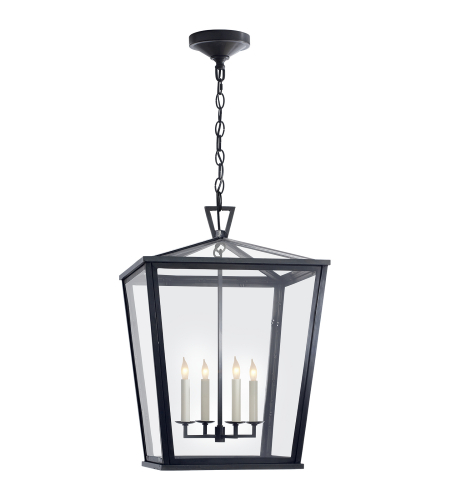 Visual Comfort CHO 5085BZ E. F. Chapman Casual Darlana Medium Hanging Lantern in Bronze