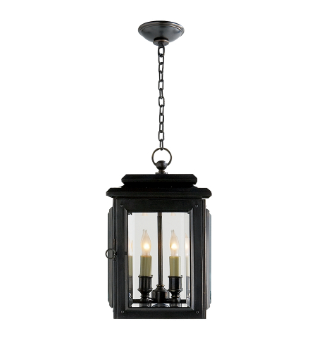 Visual Comfort CHO 5802BZ E. F. Chapman Casual Kensington Medium Hanging Lantern in Bronze