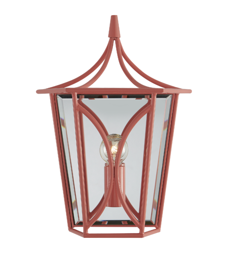 Visual Comfort KS 2144CRL kate spade new york Casual Cavanagh Mini Lantern Sconce in Coral