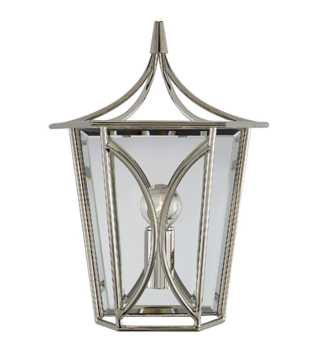 Visual Comfort KS 2144PN kate spade new york Casual Cavanagh Mini Lantern Sconce in Polished Nickel