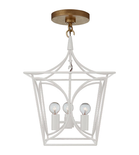 Visual Comfort KS 5143LC/G kate spade new york Casual Cavanagh Mini Lantern in Light Cream and Gild